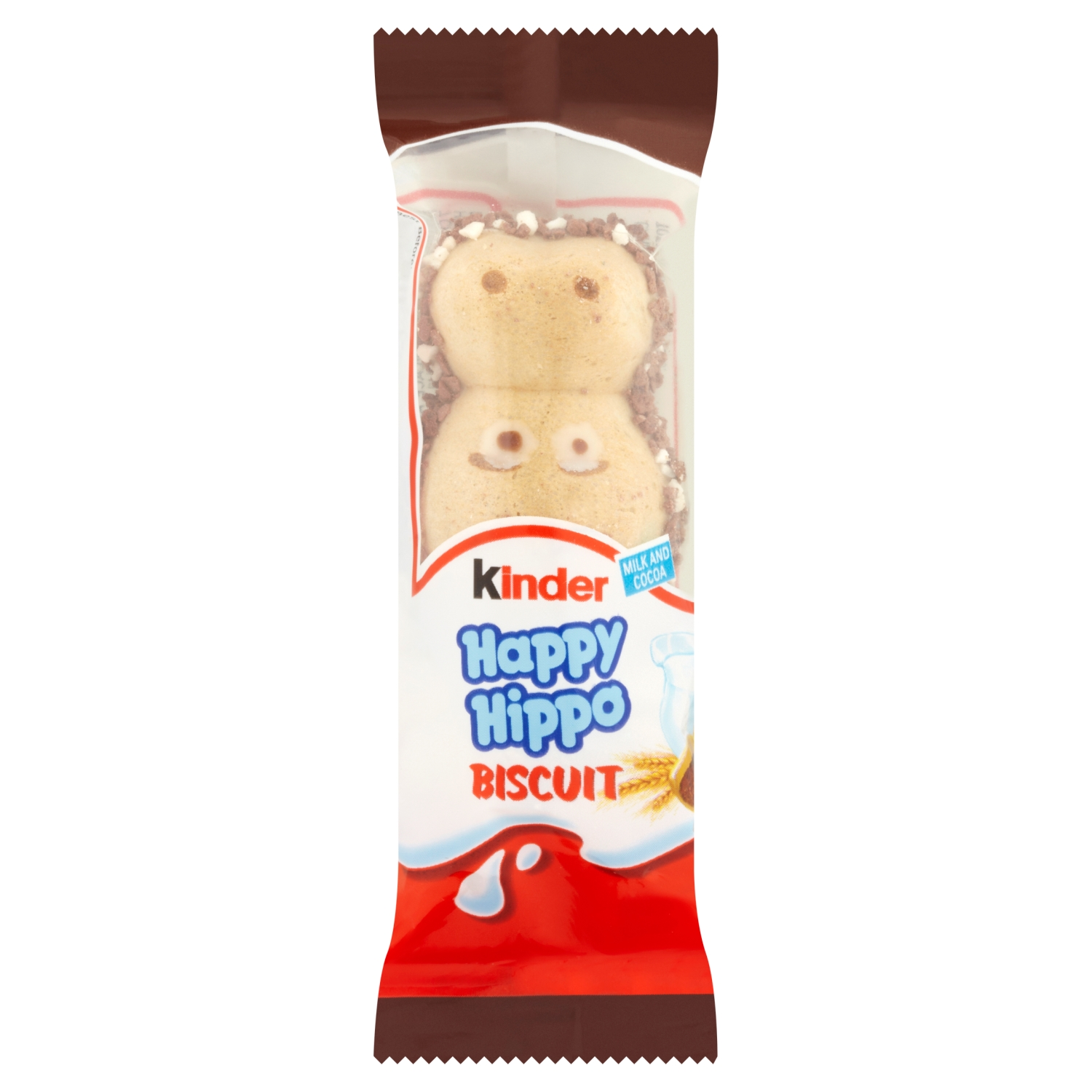 Kinder Happy Hippo Chocolate Biscuit Single Bar 20.7g