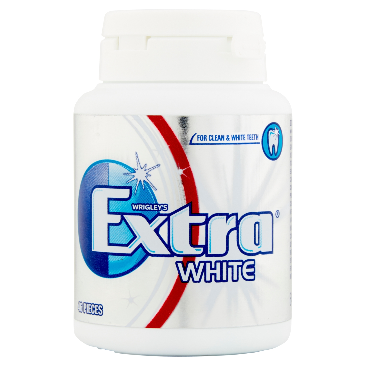 Wrigley's Extra White Sugarfree Chewing Gum 46 Pieces 64g