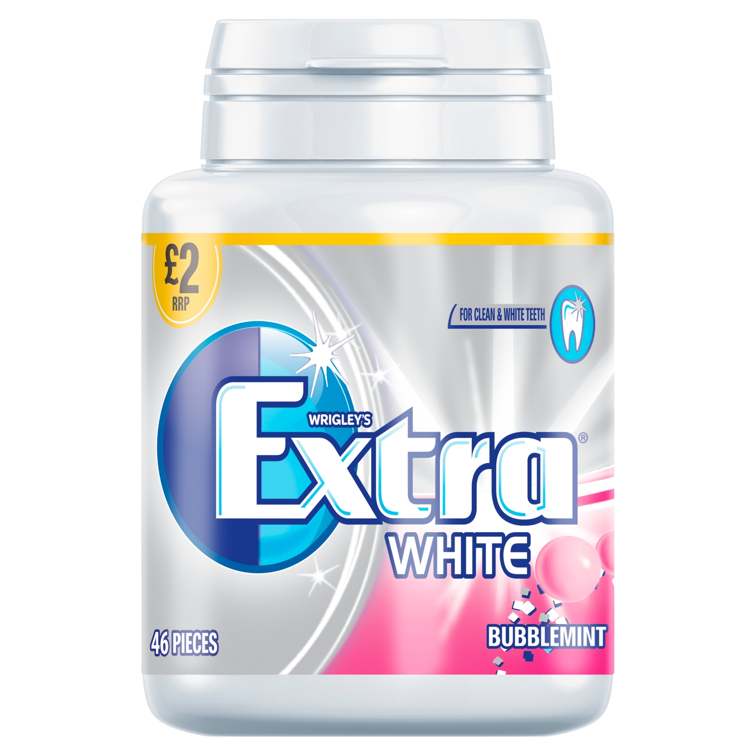 Wrigley's Extra White Bubblemint 46 Pieces 64g