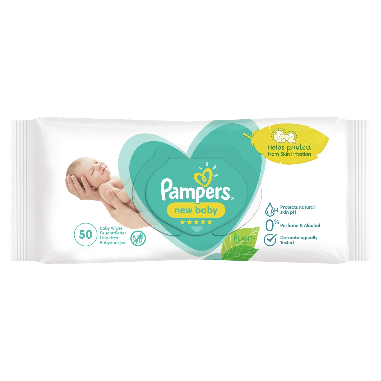 Pampers New Baby Wipes 1 Pack = 50 Baby Wet Wipes