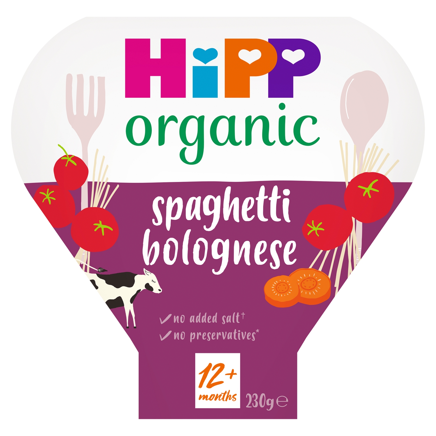 HiPP Organic Spaghetti Bolognese Toddler Tray Meal 1-3 Years 230g