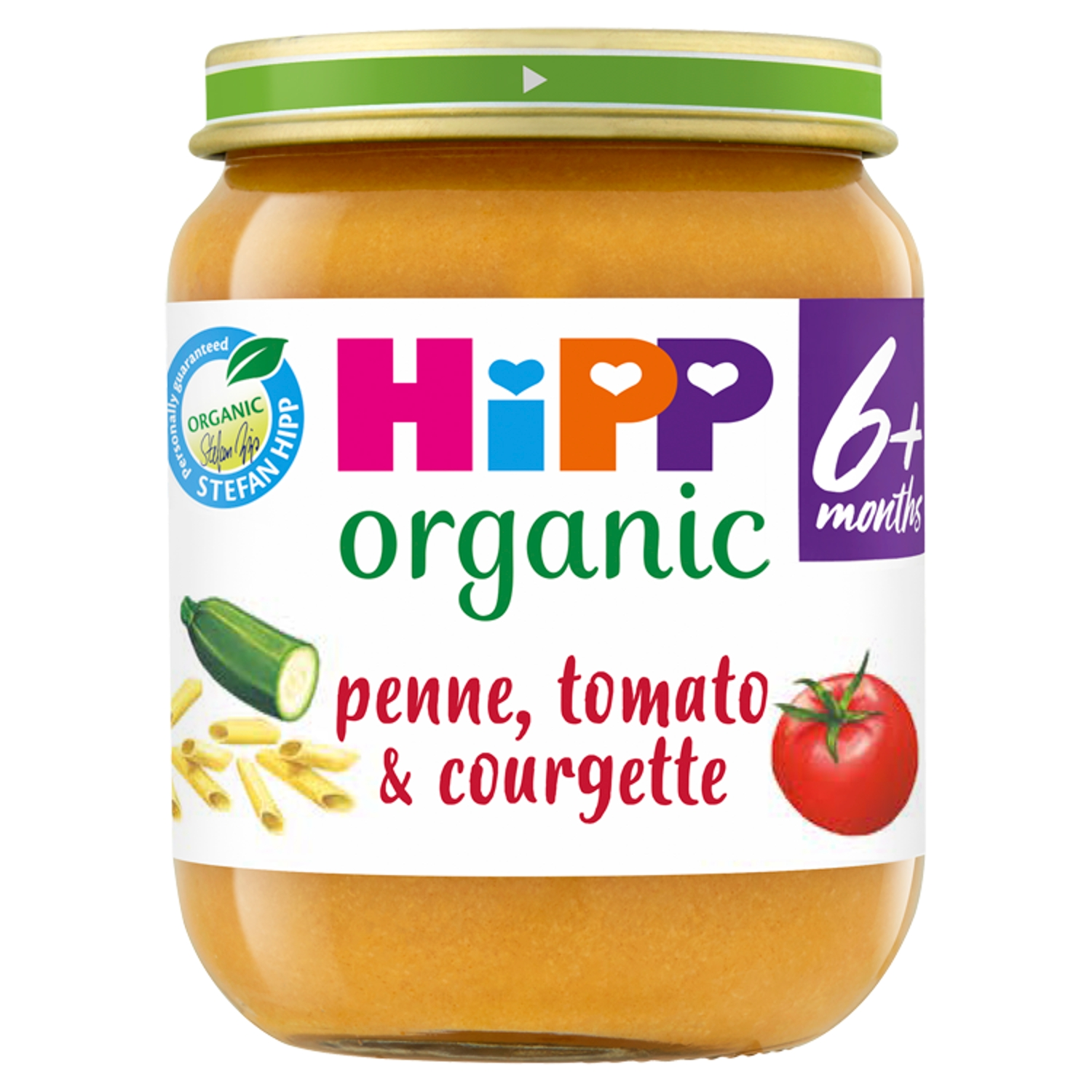 HiPP Organic Penne, Tomato & Courgette Baby Food Jar 6+ Months 125g