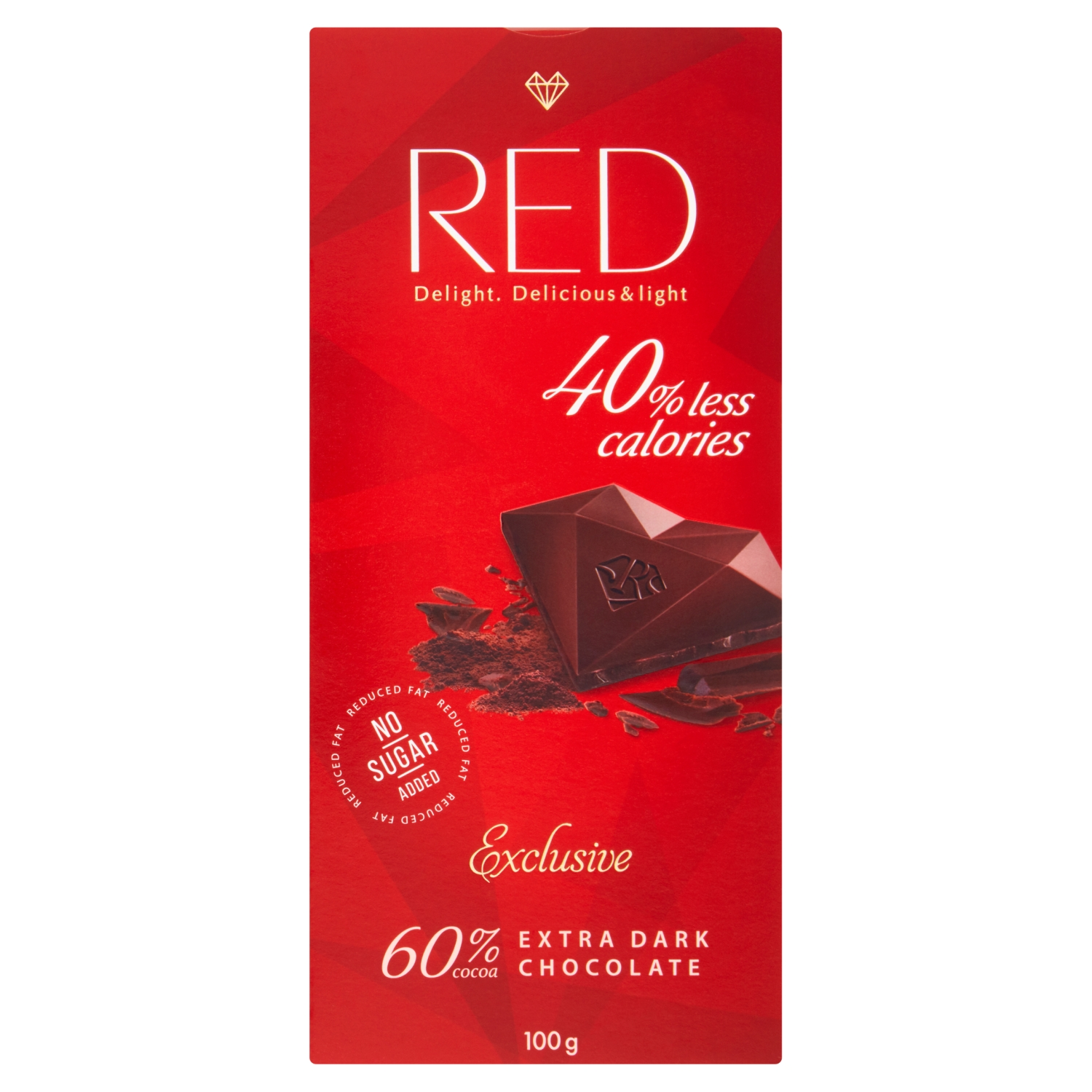 Red Exclusive Extra Dark Chocolate 100g