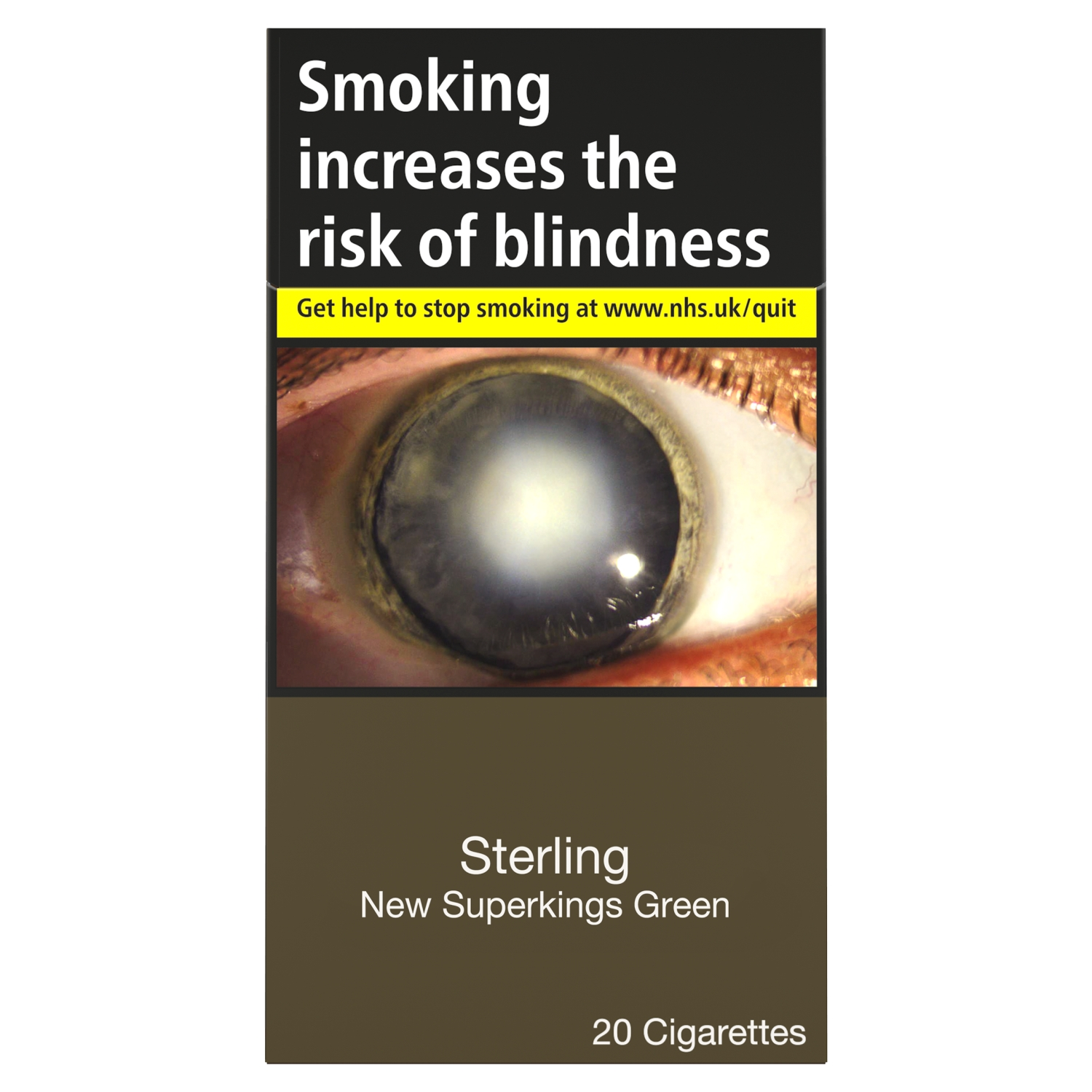 Sterling New Superkings Green 20 Cigarettes