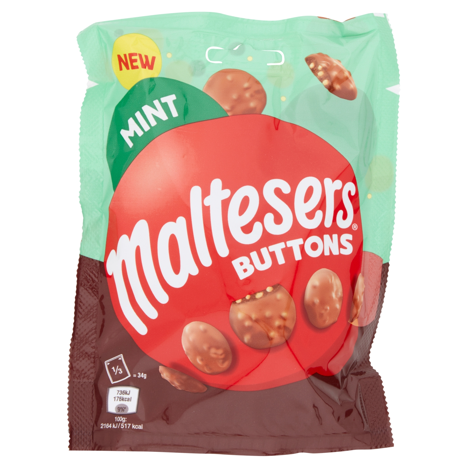 Maltesers Buttons Mint Pouch 102g