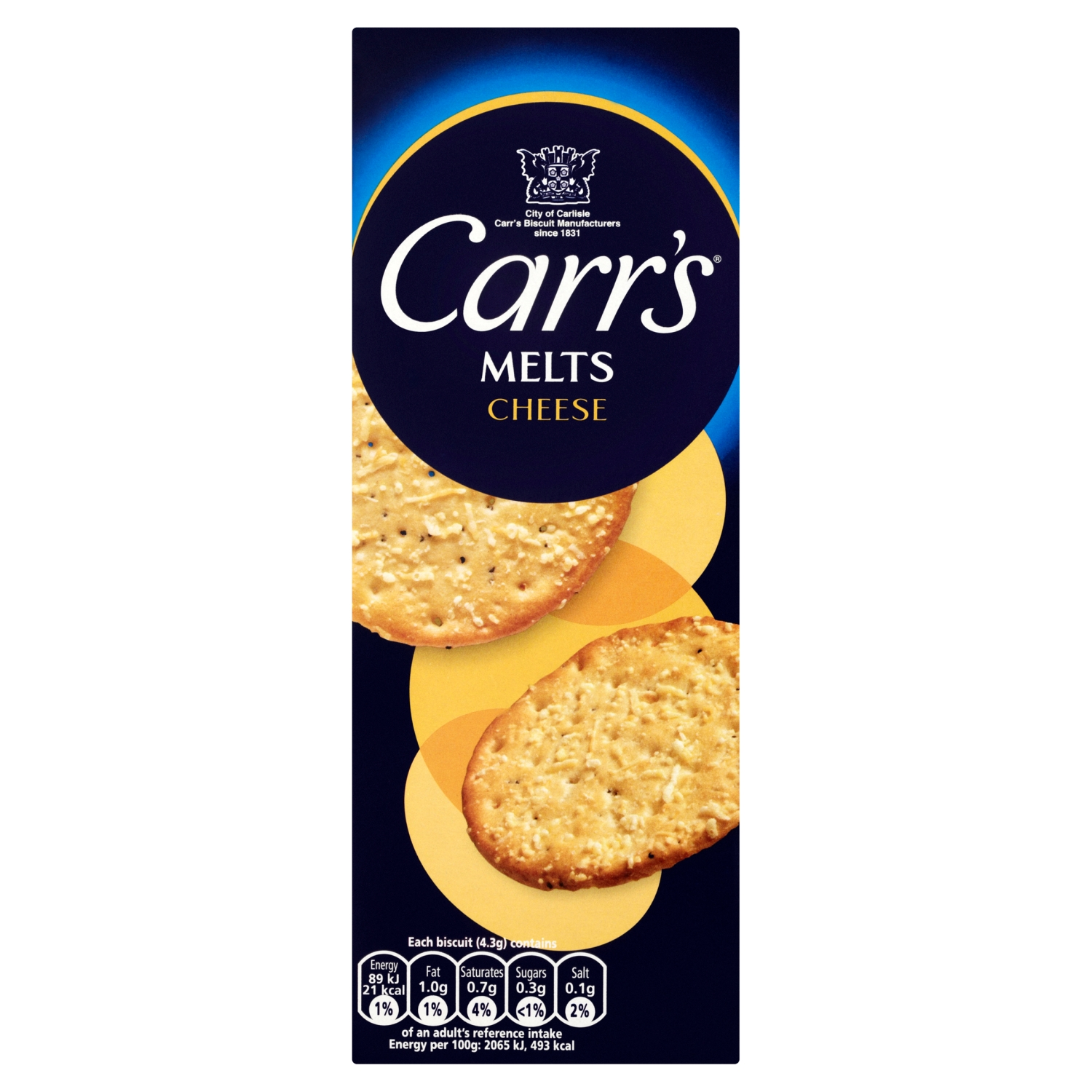 Carr's Melts Cheese Biscuits 150g
