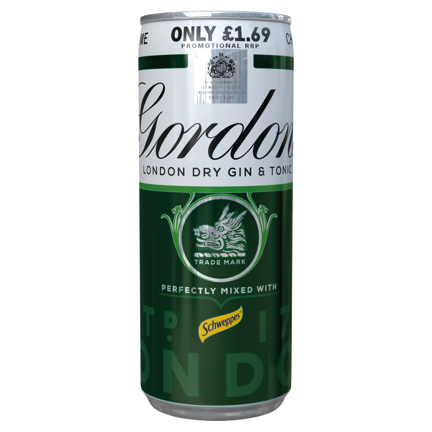 Gordon's Gin with Schweppes Gin & Tonic 250ml PMP £1.69