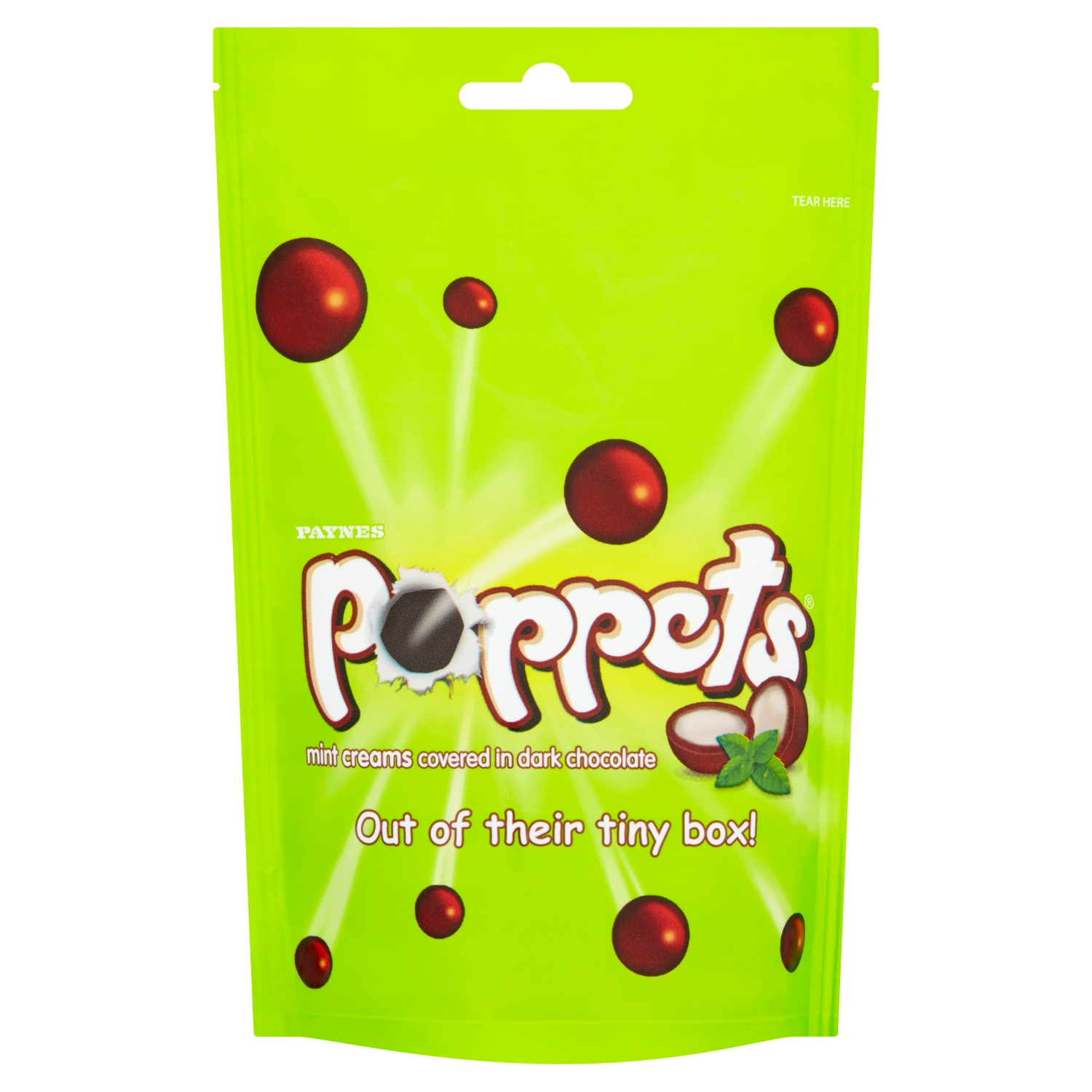 Poppets Mint Creams Covered in Dark Chocolate 150g