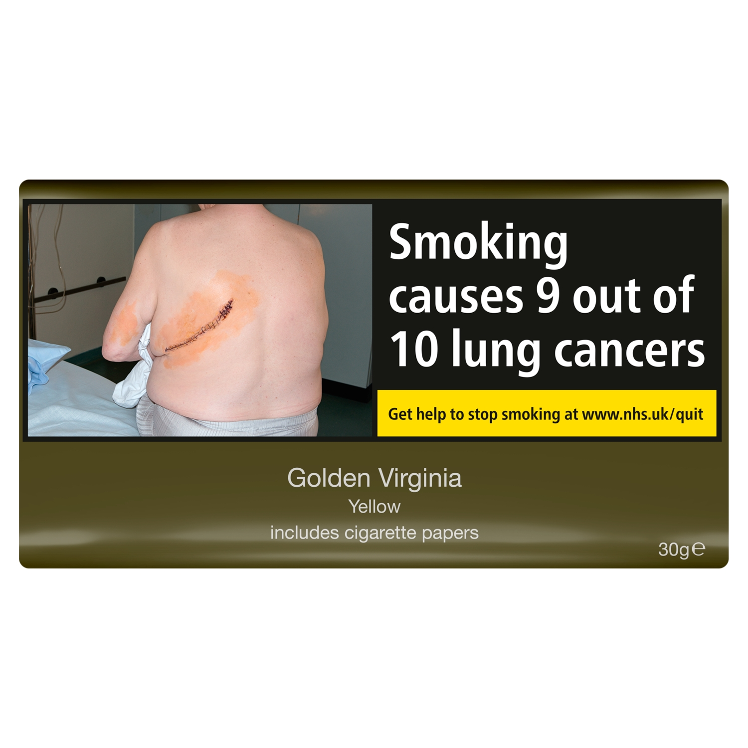 Golden Virginia Yellow Includes Cigarette Papers 30g