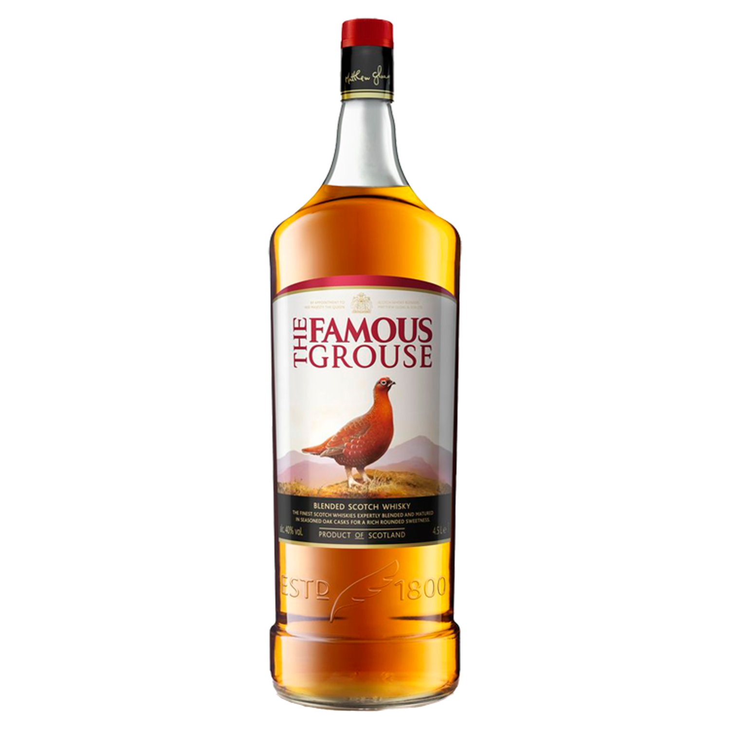 The Famous Grouse Finest Blended Scotch Whisky 4.5 Litres