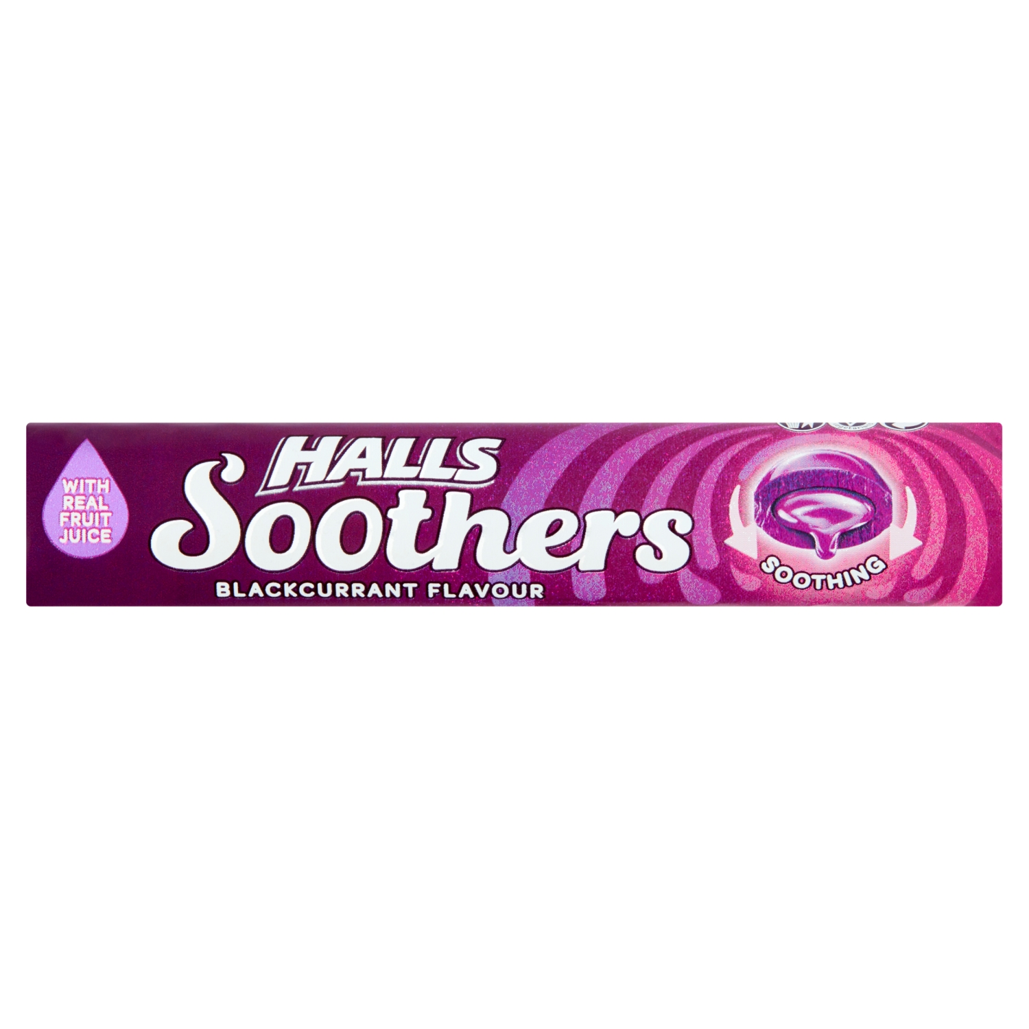 Halls Soothers Blackcurrant Juice Sweets 45g