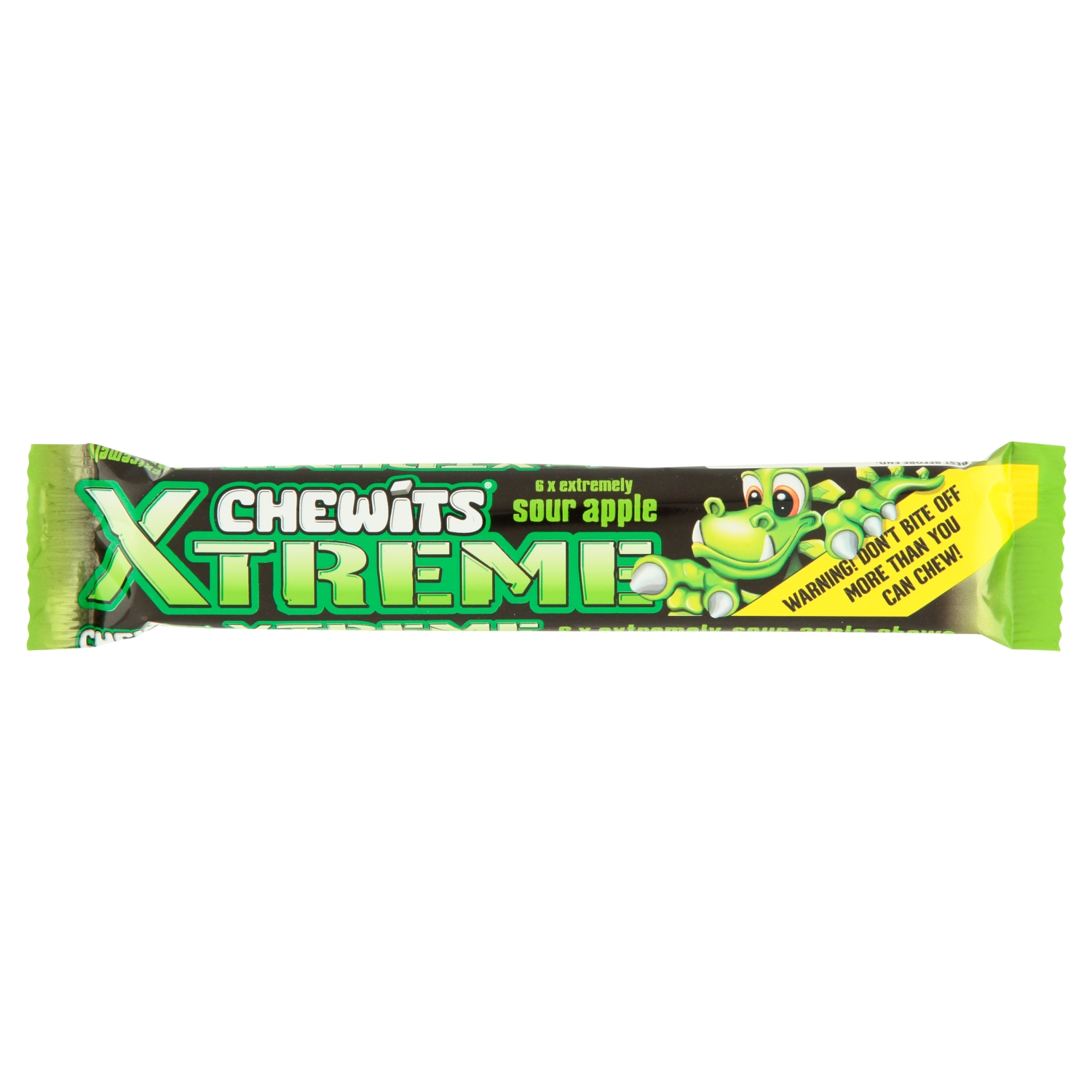 Chewits Xtreme Extremely Sour Apple Chews 34g