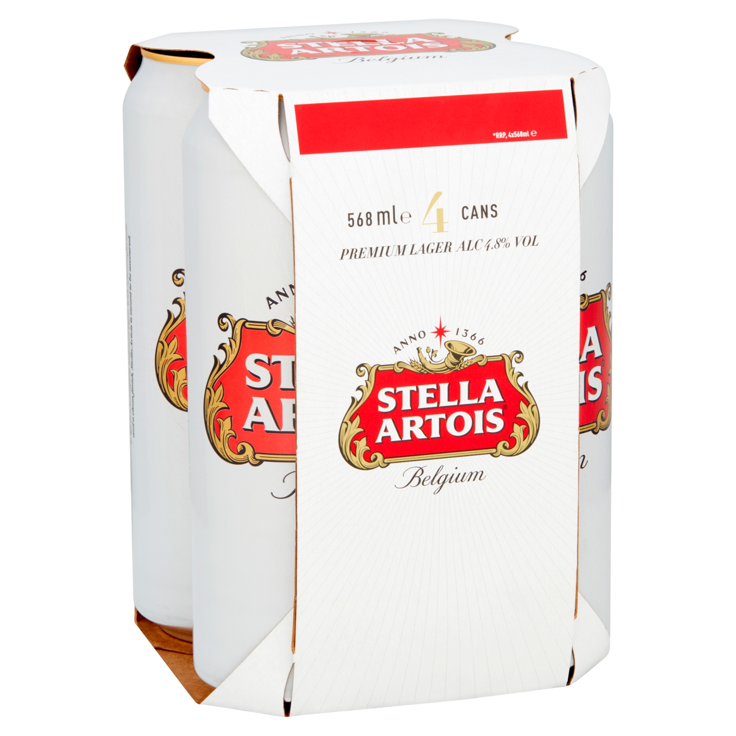 Stella Artois Lager Beer Cans 4 x 568ml