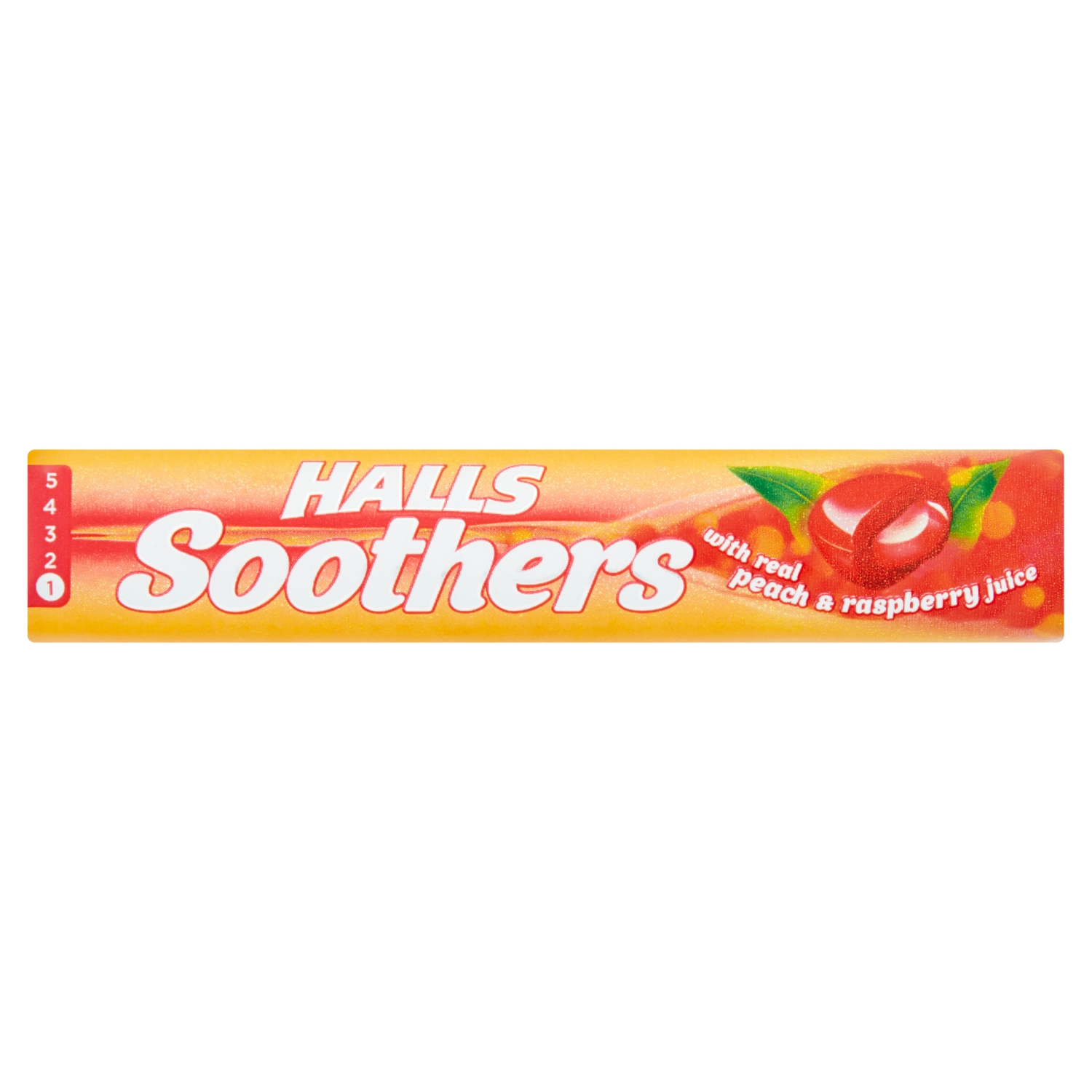 Halls Soothers Real Peach & Raspberry Juice Sweets 45g