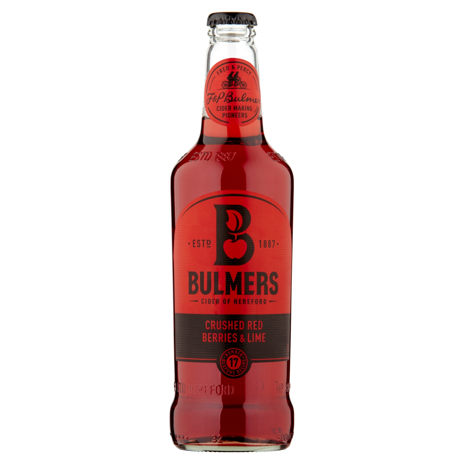 Bulmers Crushed Red Berries & Lime Cider 500ml Bottle