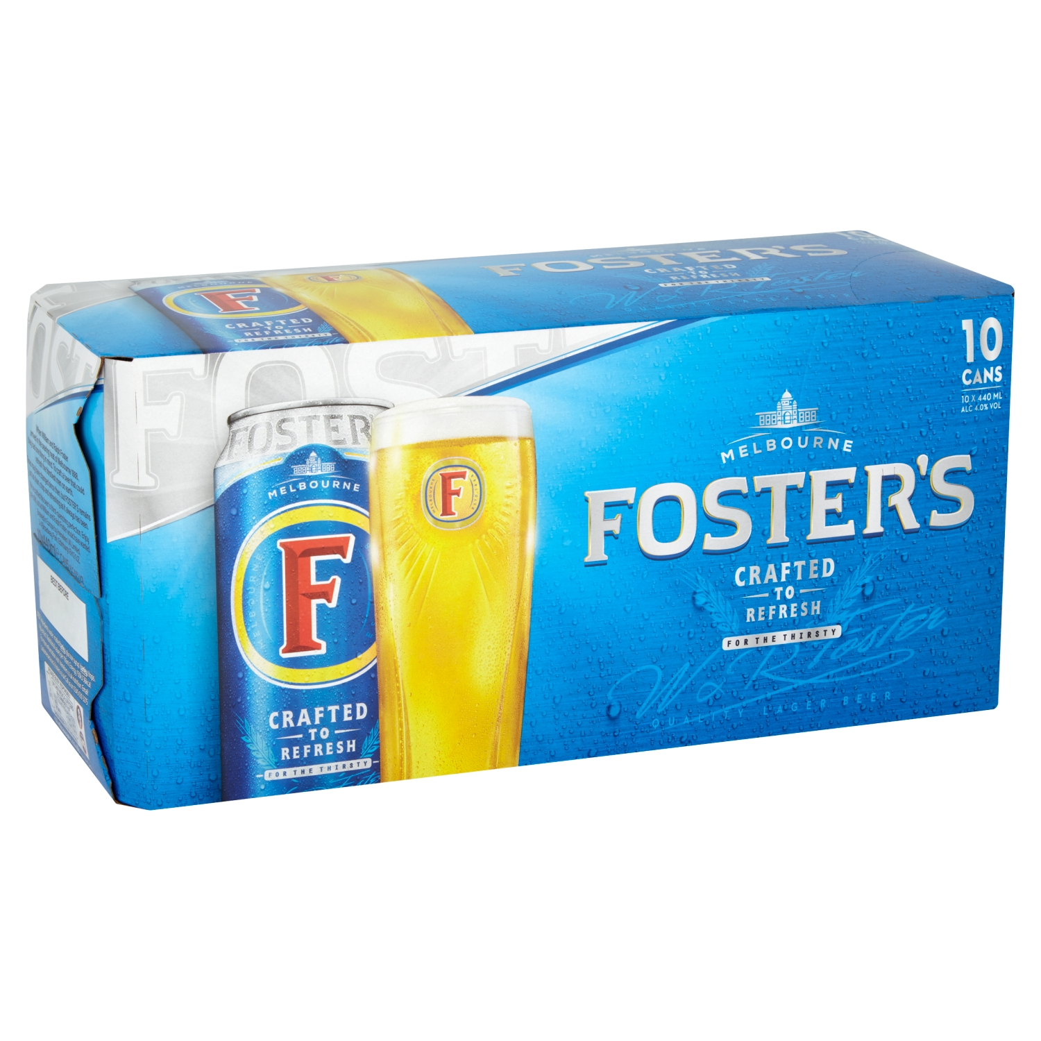 Foster's Lager Beer 10 x 440ml Cans