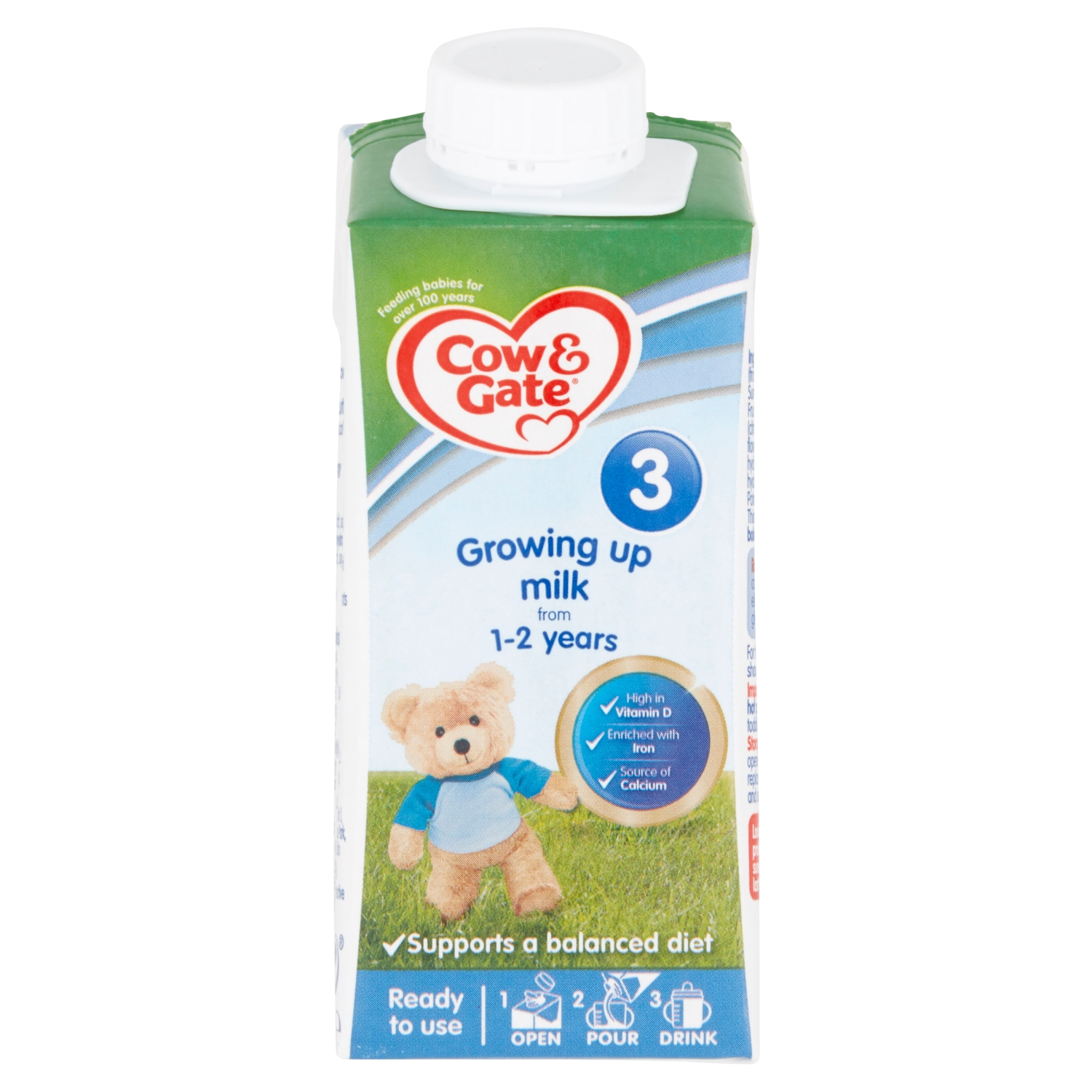 Cow & Gate 3 Toddler Milk from 1-3 Years 200ml