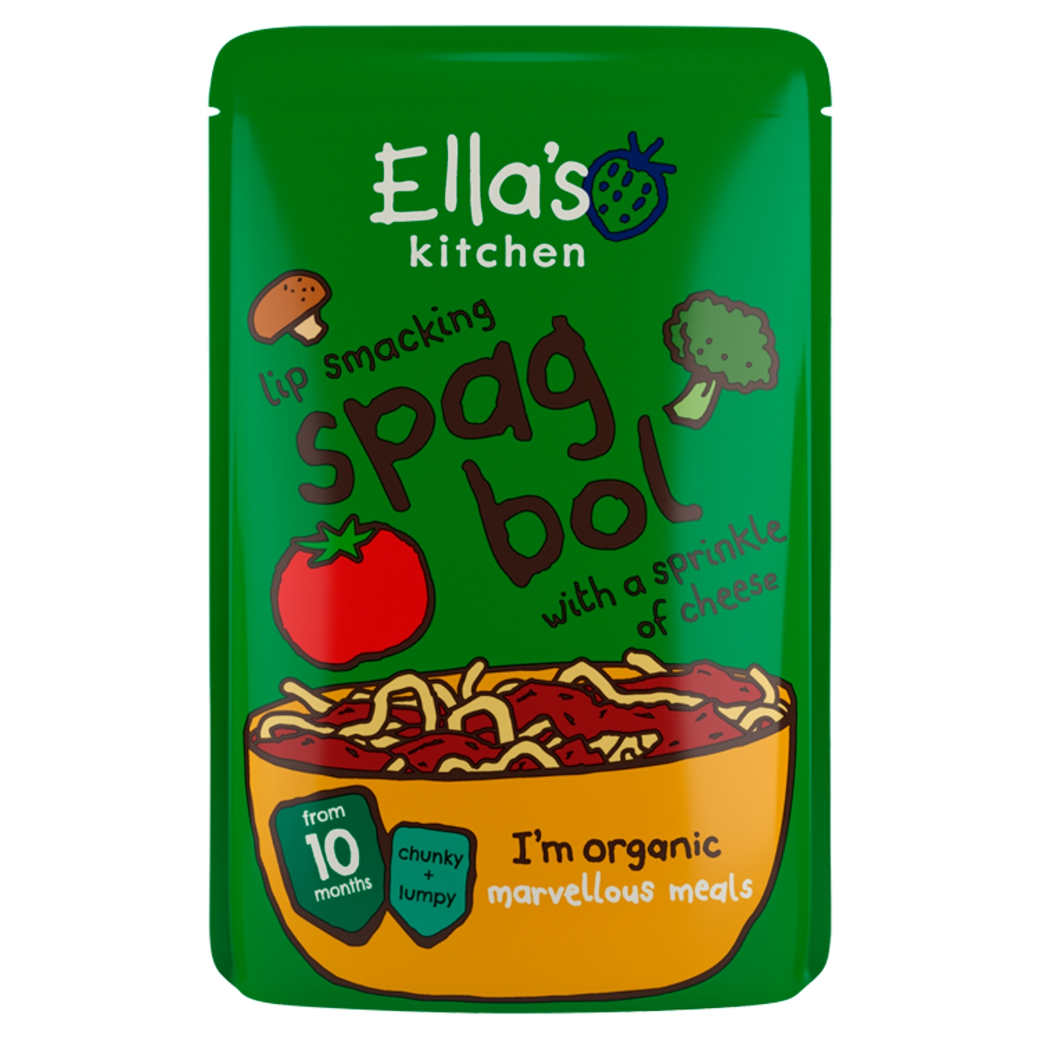 Ella's Kitchen Organic Spag Bol with Cheese Baby Pouch 10+ Months 190g