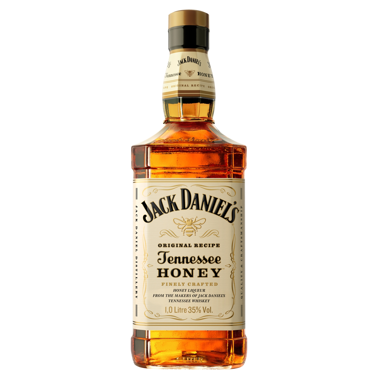 Jack Daniels Tennessee Whiskey Blended with Honey Liqueur 1 Litre