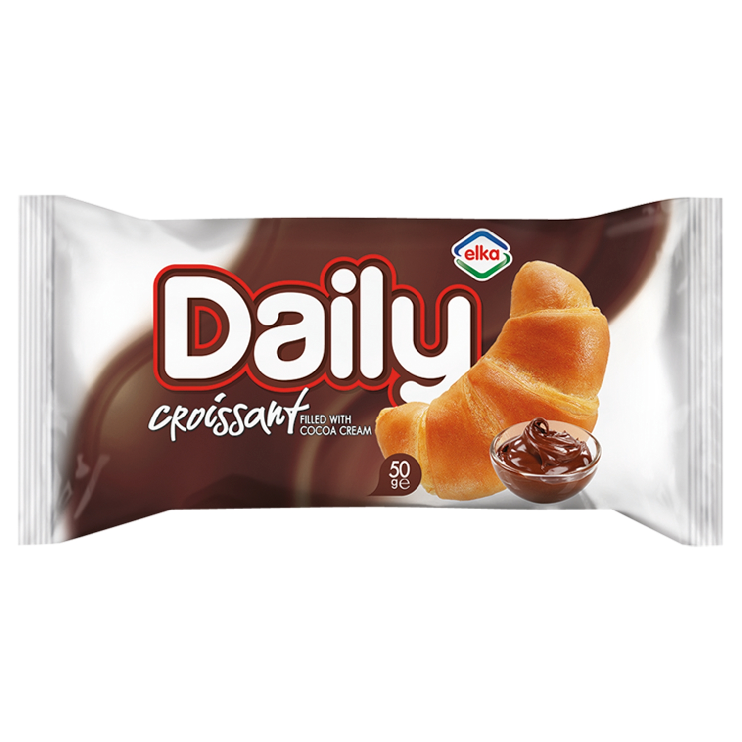 Elka Daily Croissant with Cocoa Cream Filling 50g