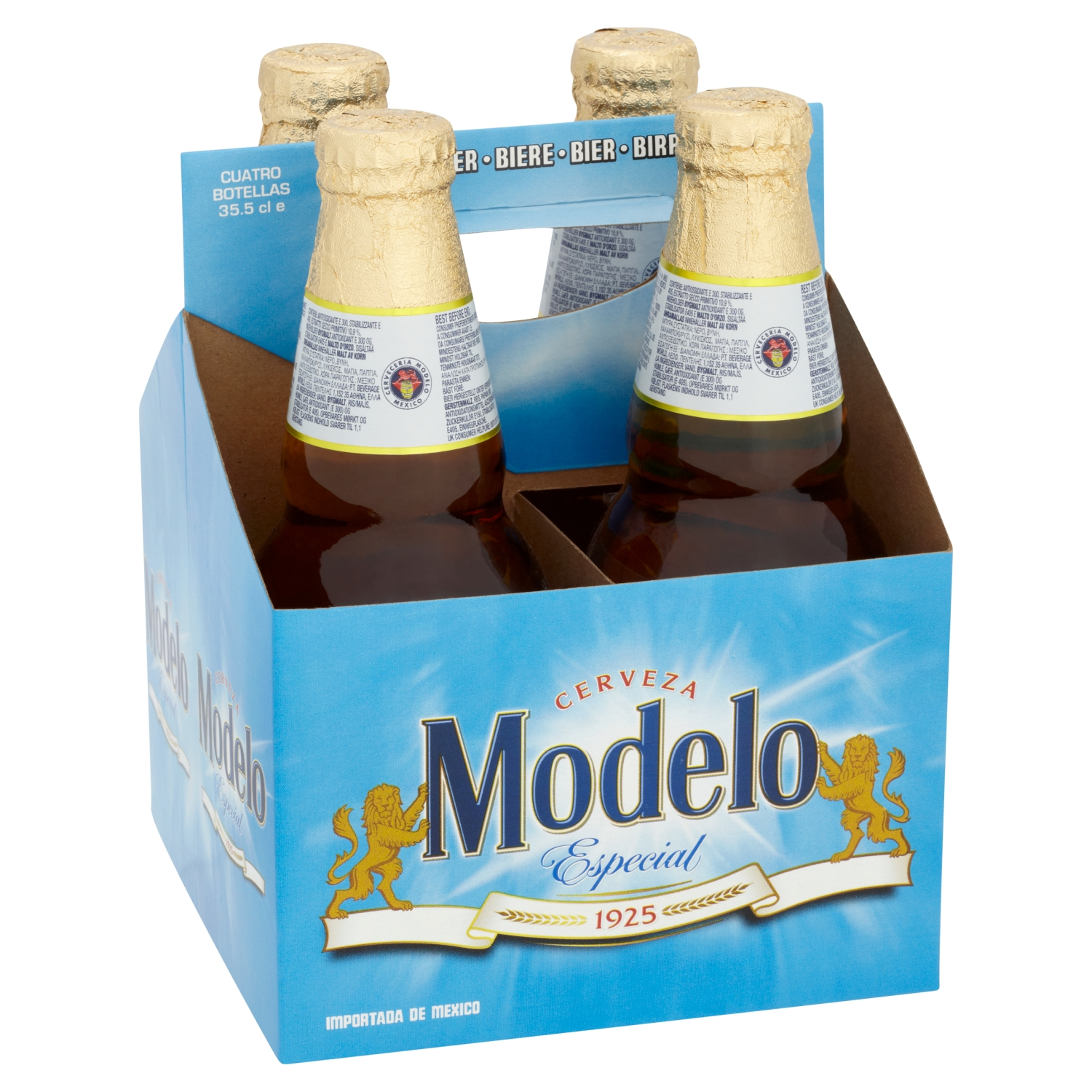 Modelo Especial Mexican Lager Beer Bottles 4 x 355ml