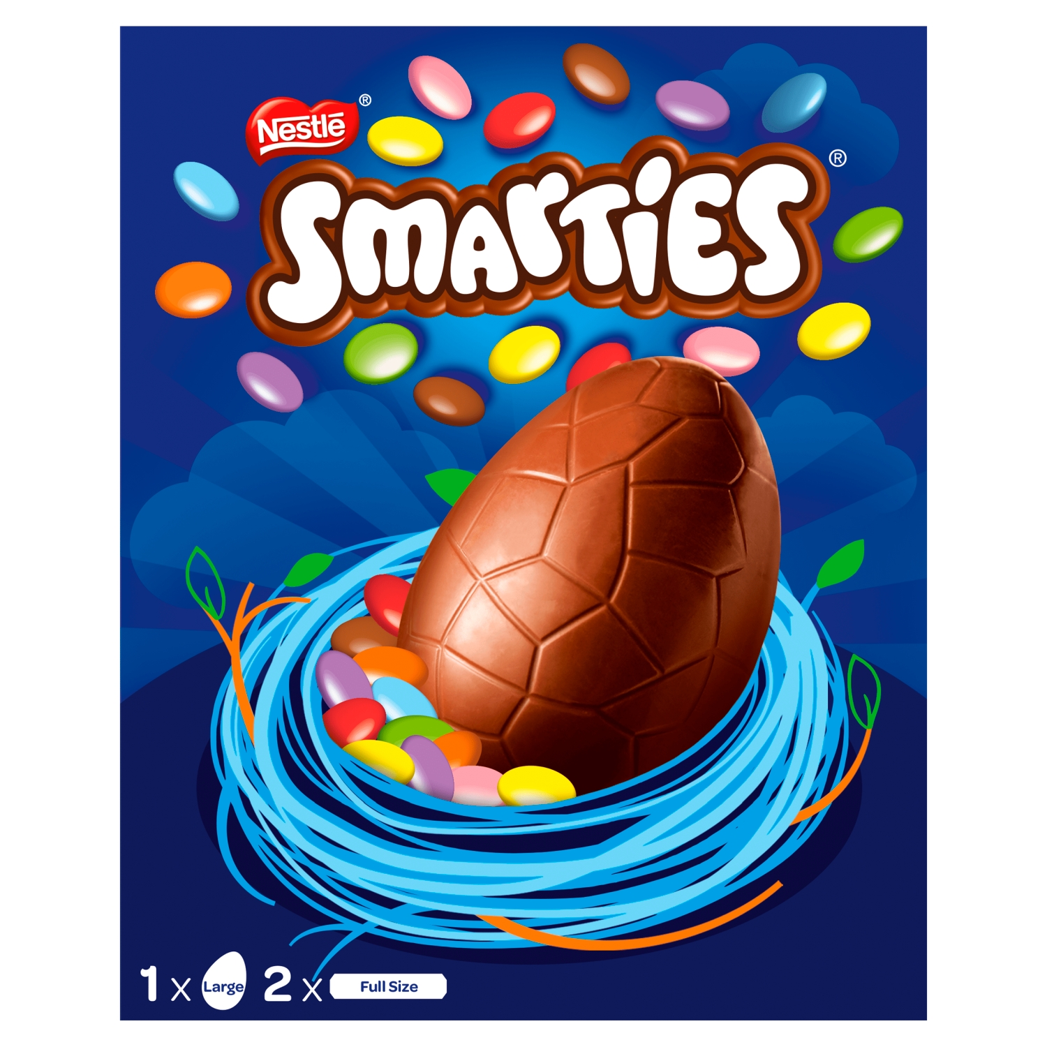 Smarties Milk Chocolate Large Easter Egg 256g