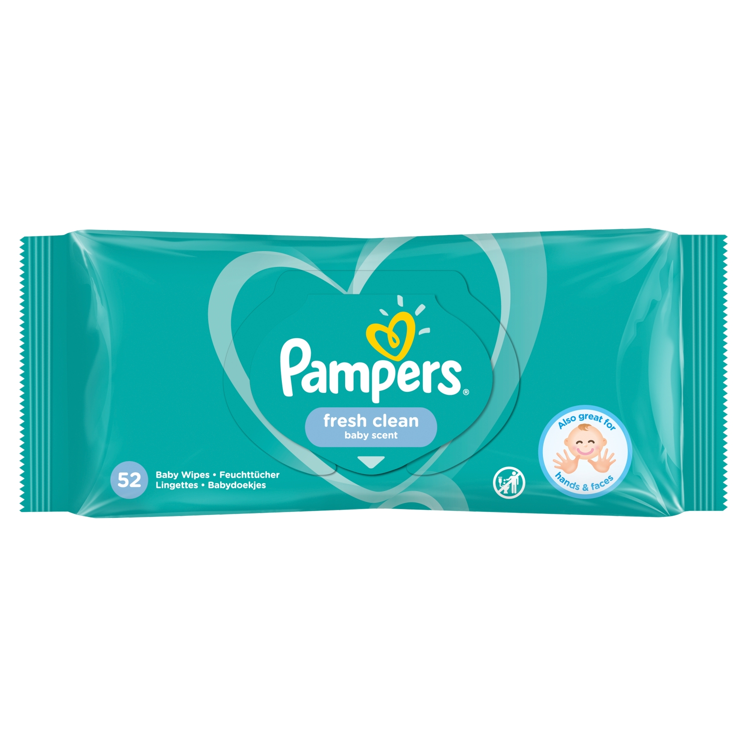 Pampers Fresh Clean Baby Wipes 1 Pack = 52 Baby Wet Wipes
