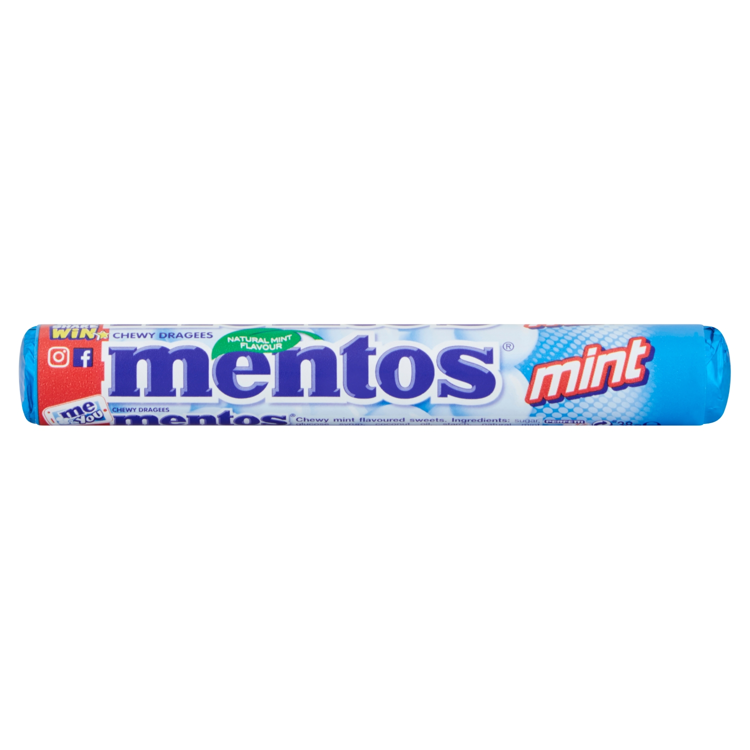 Mentos Mint Chewy Dragees 38g
