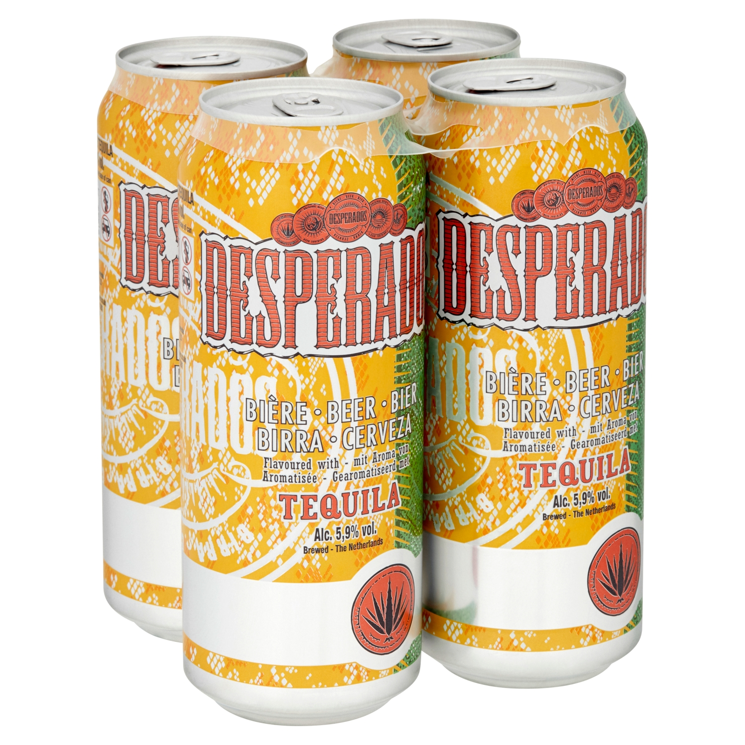 Desperados Tequila Lager Beer 4 x 500ml Cans