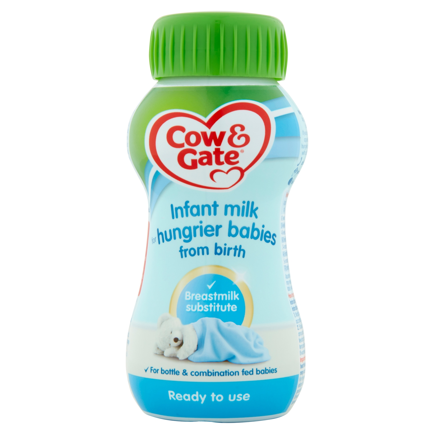 Cow & Gate Infant Milk for Hungrier Babies from Birth 200ml